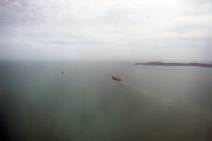 a couple of the 4,000 ships that pass thru the Strait annually.