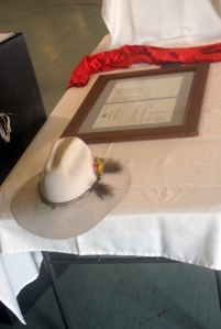 Deed title and a slouch hat...